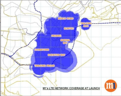 M1's initial LTE trial comes with 30 base stations covering the financial district, with more expected by Q2 2012 when islandwide deployment becomes a reality.