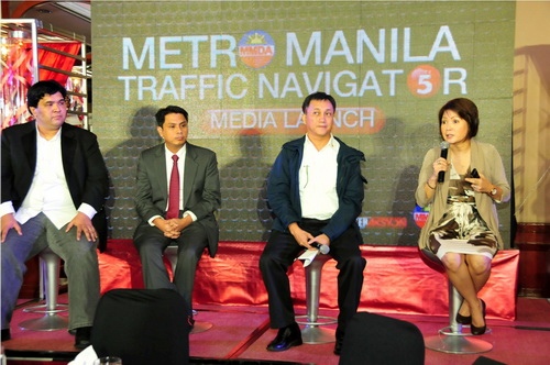 From left to right: TV5 Multimedia head Mr. Carlo Ople; InterAksyon.com editor-in-chief Mr. Roby Alampay; MMDA chairman lawyer Mr. Francis Tolentino; and NEWS5 chief Ms. Luchi Cruz-Valdes.
