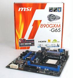 The MSI 890GXM-G65.