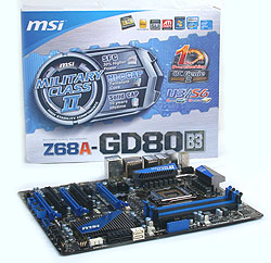 The MSI Z68A-GD80 (B3)