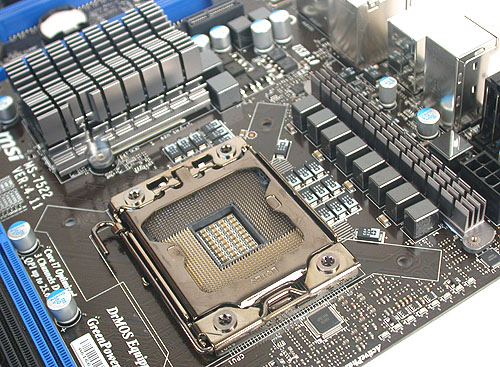 A minimal amount of passive cooling is found near the CPU socket. Digital PWMs and what MSI dubs 'icy chokes' are used.