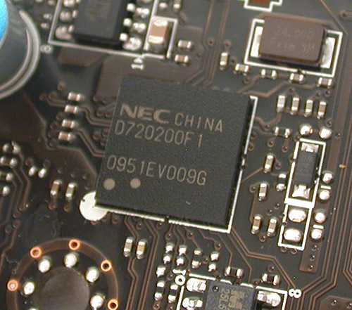 Most users should know this NEC controller by heart now, It enables USB 3.0 functionality on the motherboard.