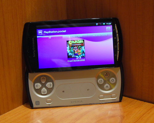 The Xperia Play focuses very much on content, one of which is PlayStation One games that will be made available via its PlayStation Network Store. For that, you'll have to wait a while longer.