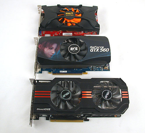 We got three graphics cards from ASUS, ECS and Palit, all at different clock speeds. You definitely want to check the clock speeds on this SKU before putting down the cash.