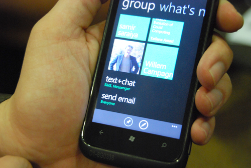 The addition of Facebook and Windows Live Messenger chat and a Group function to consolidate your contacts enhances the communication aspect of Windows Phone 7.