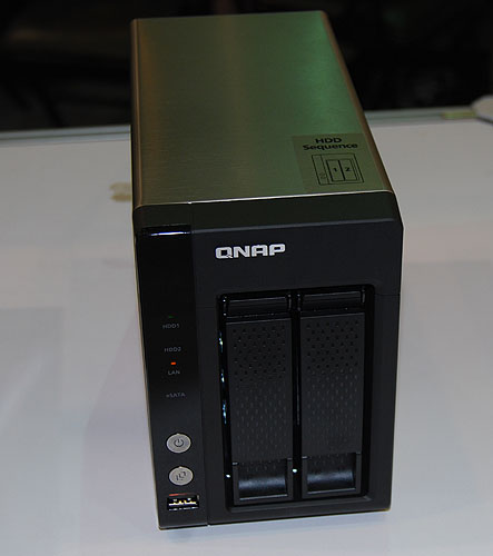 The QNAP TS-219P+ supports both 2.5-inch and 3.5-inch hard drives. It has Gigabit LAN and is powered by an Intel Atom processor at 1.6GHz with 512MB of memory. It supports streaming to both iOS and Android devices.