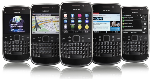 The Nokia E6 is one of the two Nokia handsets to be powered by the new Symbian Anna operating system.