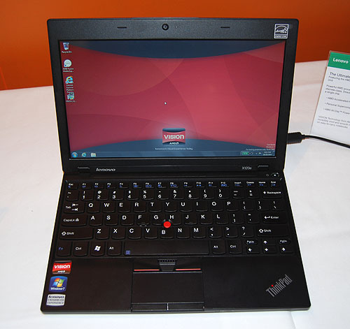 Lenovo too has a Thinkpad powered by AMD's Fusion APU. The X120e is targeted at the entry level ultra-portable segment, with its light weight and decent battery life matched with a price point starting from US$399.