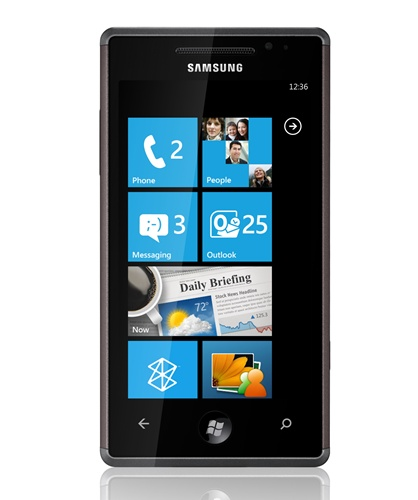 Looking simple and straightforward, this is the Samsung Omnia 7 - the Korean giant's first Windows Phone 7 device.
