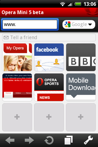 Opera Mini 5 Beta for Android Released - HardwareZone com sg