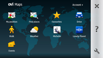 Ovi Maps provides free maps, navigation and in the local context, city guides.