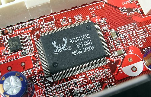 Gigabit LAN, but PCI only controller.