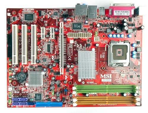 The MSI P965 Neo motherboard.