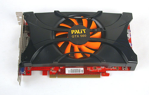 It's now one fan instead of the two we saw on Palit's 560 Ti Sonic.