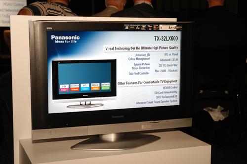 The new Panasonic VIERA TX-32LX600 LCD TV.