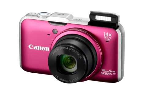 The PowerShot SX230 HS comes in hot pink too. One for the ladies?