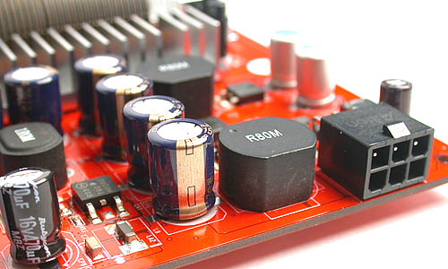 All GeForce 7900 GT cards need a reserved power connector and the Palit is no exception. Some of you may also notice the Rubycon capacitors found on the board, another trademark of Palit's products.