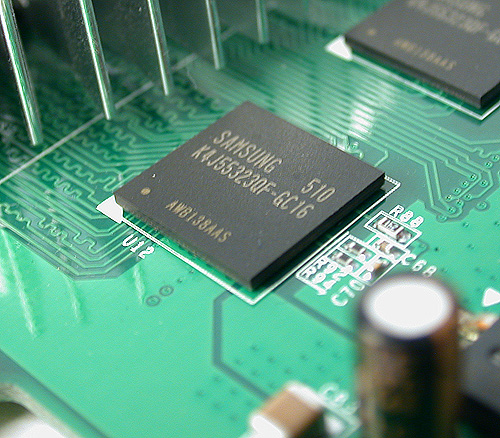 These memory chips are similar to the ones found in high-end cards.
