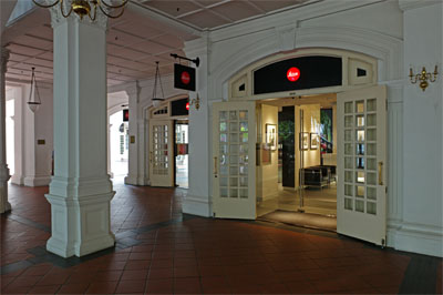 The Leica Store can be found at the drop-off point in the Raffles Hotel Arcade, facing North Bridge Road.