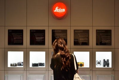 It's not just a shop, the Leica store features a 'Leica Story' wall with the history of the company and vintage models on display.