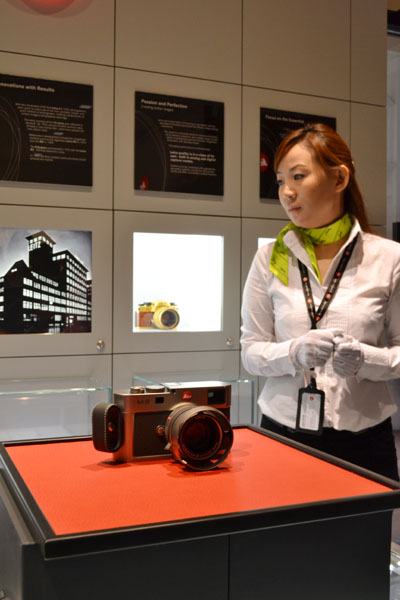 The Leica M9 Titan limited edition prototype made a surprise visit and was the star of the opening.