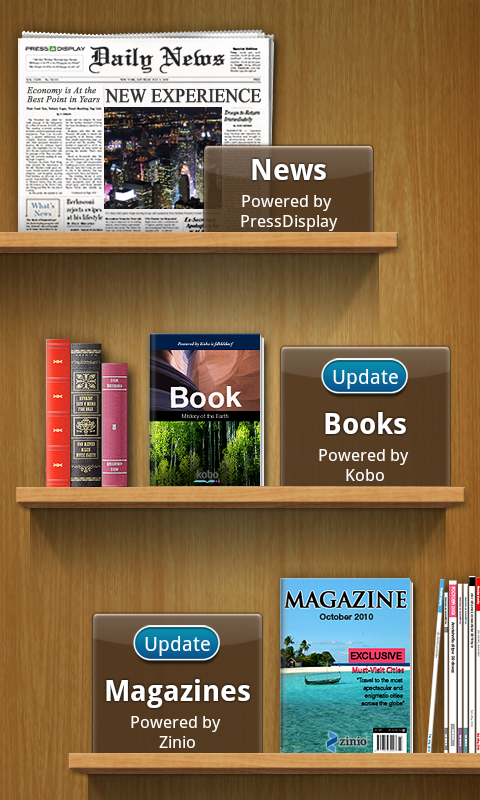 You can convert your Samsung Galaxy S II into a dedicated e-book reader with the Readers Hub. There are book previews to download before buying the actual products, or you can subscribe to digital print media like newspapers or magazines.