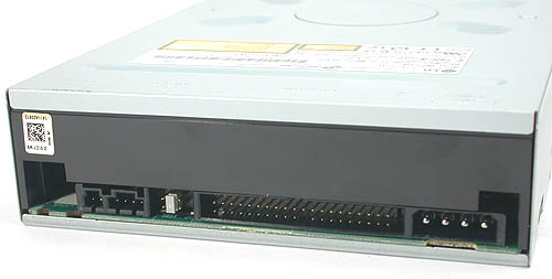 The standard connectors and pins are found as usual at the back like a typical DVD or CD burner.