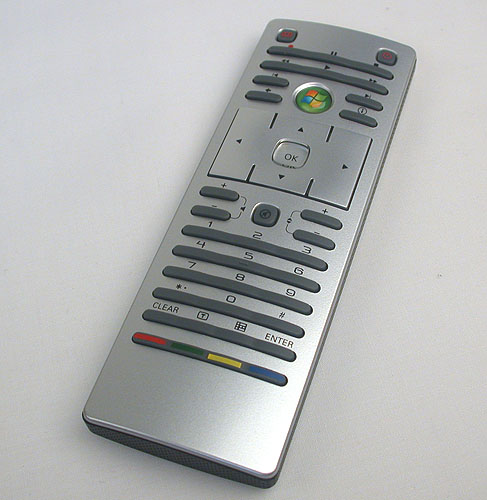 A Windows Media Center compatible remote is included.