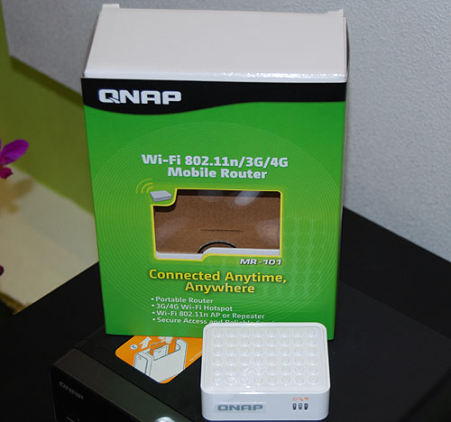 A new product from QNAP, these mobile routers can create a portable Wi-Fi or 3G wireless hotspot for your other devices.