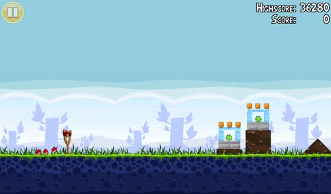 Angry Birds for Android however scales properly with no issues.