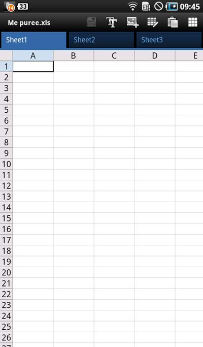 A spreadsheet!