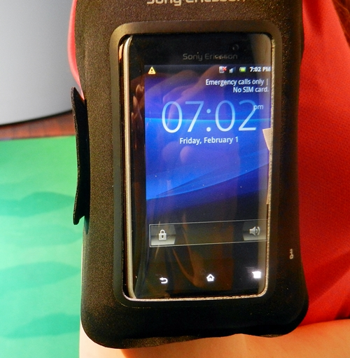 Despite having the Xperia active in the armband, you are still able to use the phone without taking it out.