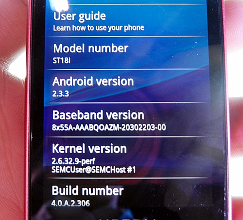It is no surprise that the new Xperia ray runs on Android 2.3, which is slowly becoming more common among Android devices in the coming months.