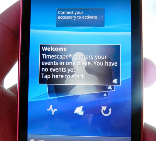 Sony Ericsson has its Timescape overlay in the Xperia ray to enhance the usability of the Android user interface.