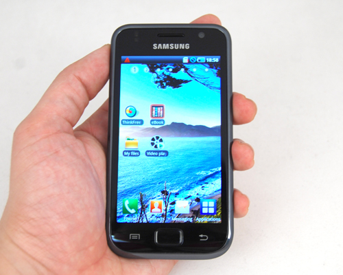 Samsung's new Android flagship: the Galaxy S i9000.