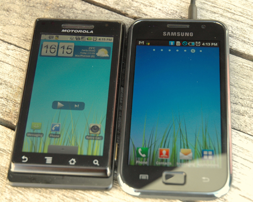 Under direct sunlight, the Super AMOLED display comes very close to matching the Motorola Milestone, whose display has among the best sunlight readability of all recent smartphones we've tested.
