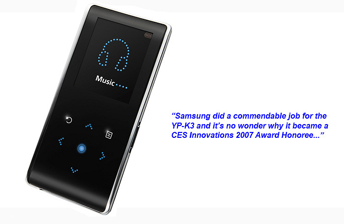 First Looks: Samsung YP-K3 MP3 Player - HardwareZone.com.ph