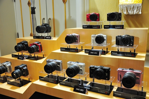 Here's a montage of products - old and new. The older Lumix G models are here, alongside the new G3 and GF3 models. Can you find them?