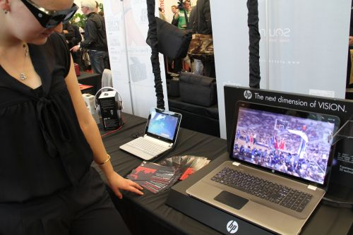 """HP got in on the 3D action as well with the introduction of its Envy 17 notebook with a 17.3"""" 3D Ultra BrightView display screen. The Envy 14 got a different treatment with a special Beats by Dr. Dre edition, complete with a black-and-red design with a cool red backlit Beats logo on the LCD back. Oh it comes bundled with a red Beats headphone too."""