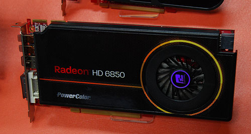 Another custom design by PowerColor is this single-slot Radeon HD 6850. There's a premium price associated with it, due to the higher cost of the necessary heatsink material.