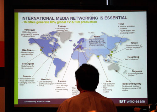 Singapore is one of the 15 cities responsible for generating 80 percent of global TV and film production content. Are you proud yet? According Mr Dunn's slide, Singapore is also gaining traction as a burgeoning film exporter on the world stage.