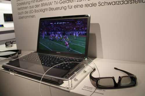 Fancy watching 3D content on your VAIO notebook? Visitors to the Sony booth get to see firsthand a 3D prototype inside a VAIO F series model notebook chassis.