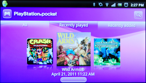 Another app, known as PlayStation Pocket, houses classic PlayStation One games, with Crash Bandicoot being preloaded and more titles available via the app.