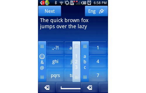 Text messaging or any other form of text input is made easy with the interchangeable keypad.
