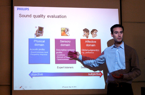 "It's good to know Philips is genuinely aware on what's objective and what's subjective. Acoustic engineer Sylvian Choisel mentioned that Philips' quality evaluation process is divided into three critical parts - the Physical Domain, which is objectively reviewed, followed by the Sensory domain as weight by expert listeners, and the Affective Domain, where ""global"" judgment on the product is harvested."