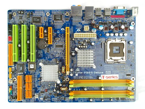 The Biostar TForce P965 Deluxe motherboard.