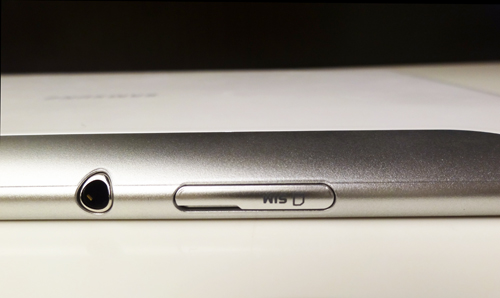 3.5mm headphone port and a micro-SIM card slot.