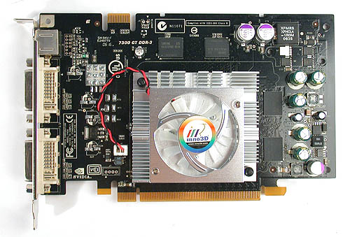 Inno3D has favored black PCBs in the past and this is still the case for its GeForce 7300 GT.