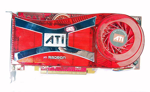 A brand new cooler for the Radeon X1950 XTX 512MB. From what we have heard, it's so much softer than the one on the Radeon X1900 XTX.