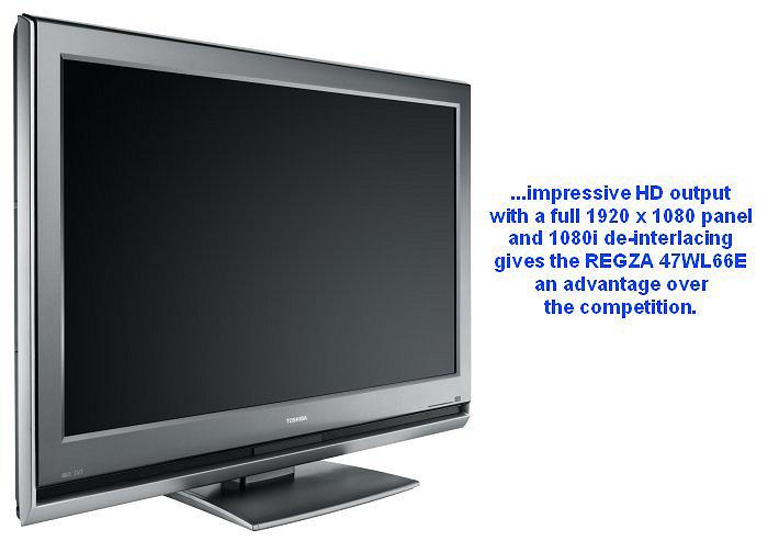 First Looks Toshiba Regza 47wl66e 47 Inch Lcd Tv Hardwarezone